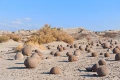 Stone desert in Ischigualasto, Argentina. Royalty Free Stock Photo