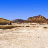 Stone desert in Israel Royalty Free Stock Photography