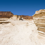 Stone desert in Israel Royalty Free Stock Photo