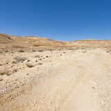 Stone Desert in Israel. Rocky hills of the Negev Desert in Israel. Breathtaking landscape of the desert rock formations in the Southern Israel Desert Royalty Free Stock Photos