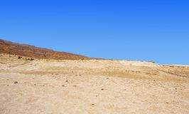 Stone desert in Israel. Rocky hills of the Negev Desert in Israel. Breathtaking landscape of the desert rock formations in the Southern Israel Desert Stock Photography