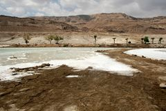 Stone desert and mountains near Dead Sea, Israel Royalty Free Stock Images