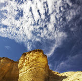 Stone desert near to canyon En-Avdat Royalty Free Stock Images