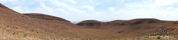 Stone desert panorama Stock Photography