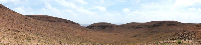 Stone desert panorama. Desert of stones and gravel - Sahara - Best of Morocco Stock Photography