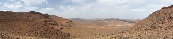 Stone desert panorama. Desert of stones and gravel - Sahara - Best of Morocco Stock Photo