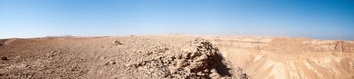 Stone desert panorama Stock Photos