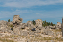 The Stone Desert (Pobiti kamani) near Varna, Bulgaria Stock Images