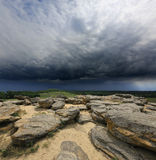 Stone desert before storm Stock Image