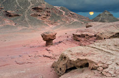 Stone desert in Timna park, Israel Stock Photography