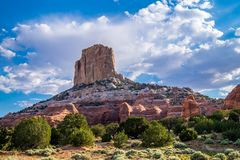 Picturesque landscapes of Arizona, Rocks-Monuments. Journey through the US Reserves Royalty Free Stock Photography