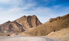 Travel in Israel negev desert landscape. Stone deserts hiking for health and mountain view Royalty Free Stock Photos