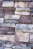 Stone Detail. Close-up of stone on the exterior of a modern home stock images