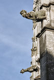 Stone details of a Gothic church Royalty Free Stock Images