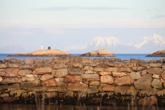 Stone Docks of Henningsvaer Royalty Free Stock Photos