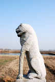 Stone dog Sculpture in wild. China,Qing dynasty,300 years ago Stock Photography