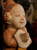 Stone doll. Sandstone beautiful doll in Thailand Stock Image