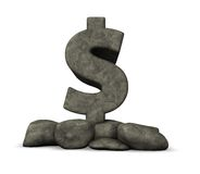 Stone dollar symbol Stock Photo