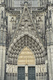Stone door in cologne Cathedral ,germany. Stock Photos
