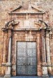 Stone door stock photo
