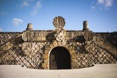 Stone Door. Medieval Stone door, near La Romana, Dominican Republic Royalty Free Stock Photo