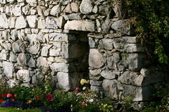 Stone doorway. Old stone doorway into a crypt Royalty Free Stock Photos