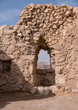 Stone Doorway at Masada Stock Photos