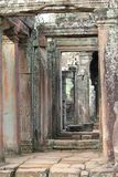 Stone doorways at Bayon Temple, Angkor Wat, Cambodia Royalty Free Stock Photography