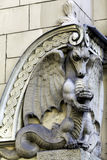 Stone dragon, Art Nouveau building, Rig Royalty Free Stock Image