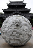 Stone dragon ball Royalty Free Stock Photo