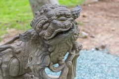 Stone dragon face Stock Images
