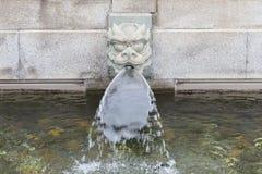 Stone dragon fountain head water spout Royalty Free Stock Photos