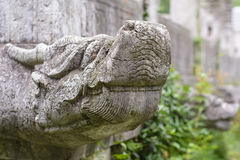 Stone dragon. The Ming Tomb is the tomb of Zhu Yuanzhang, first emperor of the Ming Dynasty.The construction system of the Ming Tomb initiated a standard fooloed Royalty Free Stock Image