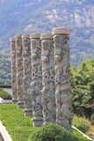 Stone dragon pillars Royalty Free Stock Images
