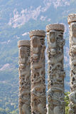 Stone dragon pillars Royalty Free Stock Image