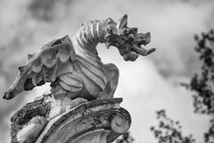 Stone dragon statue Stock Photography