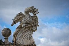 Stone dragon statue Royalty Free Stock Images