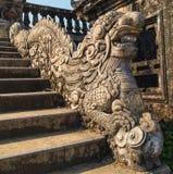Stone dragon statue, Citadel, Hue, Vietnam. Stock Image