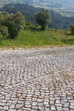 Stone Driveway Uphill Royalty Free Stock Photography