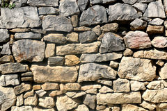 Stone Drywall. Traditional Mediterranean stone drywall texture Stock Images