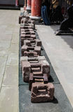 Stone dumbbell in the martial arts in yongning town,sichuan,china Royalty Free Stock Photos