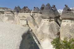 Stone dwellings in Cappadocia Royalty Free Stock Images