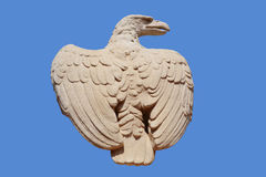 Stone eagle. In Bahai gardens Royalty Free Stock Photo