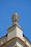 Stone eagle on head Royalty Free Stock Photo
