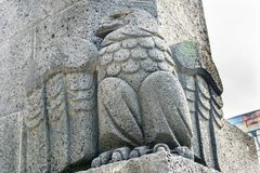 Stone Eagle 1910 Revolution Monument Mexico City Mexico. Built in 1932. Eagle is a Mexico symbol royalty free stock photos