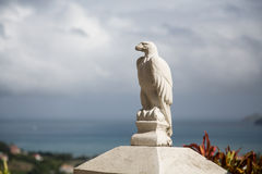 Stone Eagle by Sea Royalty Free Stock Photography