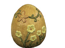 Stone Easter egg Royalty Free Stock Images
