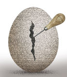 Stone egg Royalty Free Stock Photography