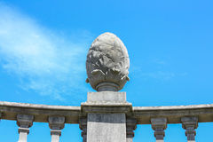 Stone egg - exterior detail of the Einsideln Abbey Royalty Free Stock Photography