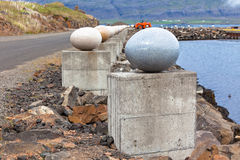 The Stone Eggs of Merry Bay, Djupivogur, Iceland Stock Photography